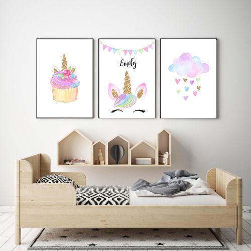 Unicorn Wall Art Set