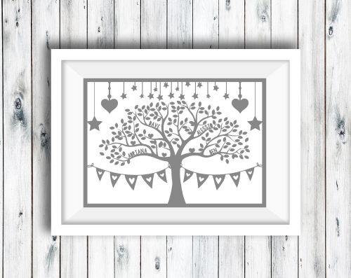 Family Tree up to 8 Names