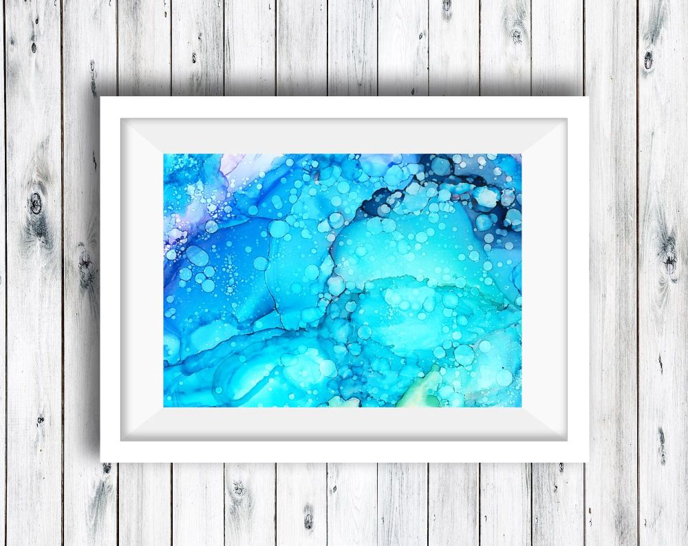 Abstract Art Ink Painting - Galaxy