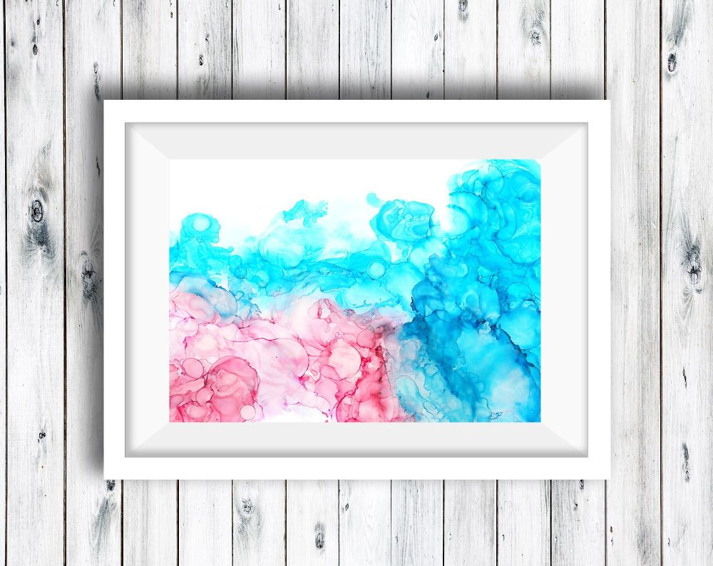 Abstract Art Ink Painting - Ethereal