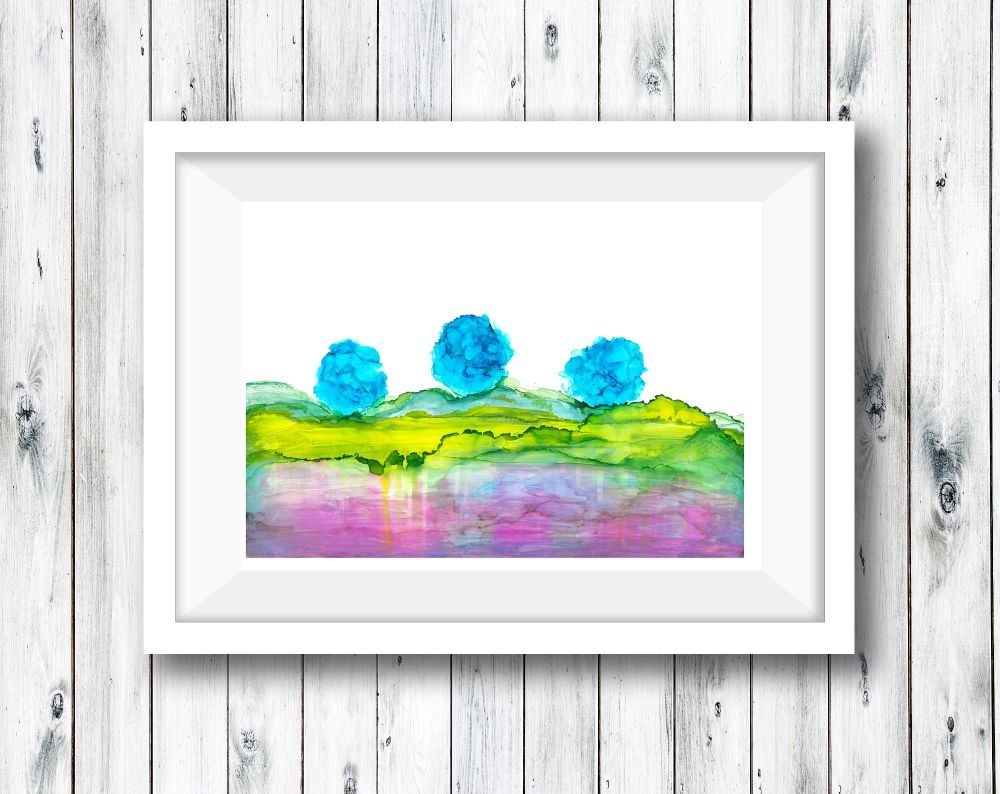 Abstract Art Ink Painting