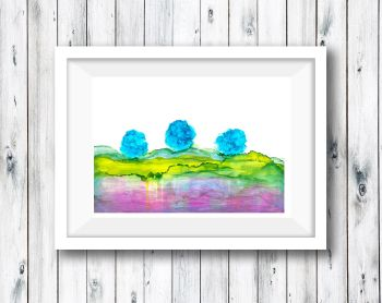 Abstract Art Ink Painting Landscape