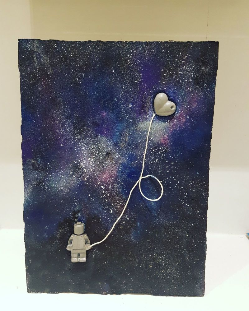 Concrete Mixed Media Follow Your Heart to the Galaxy