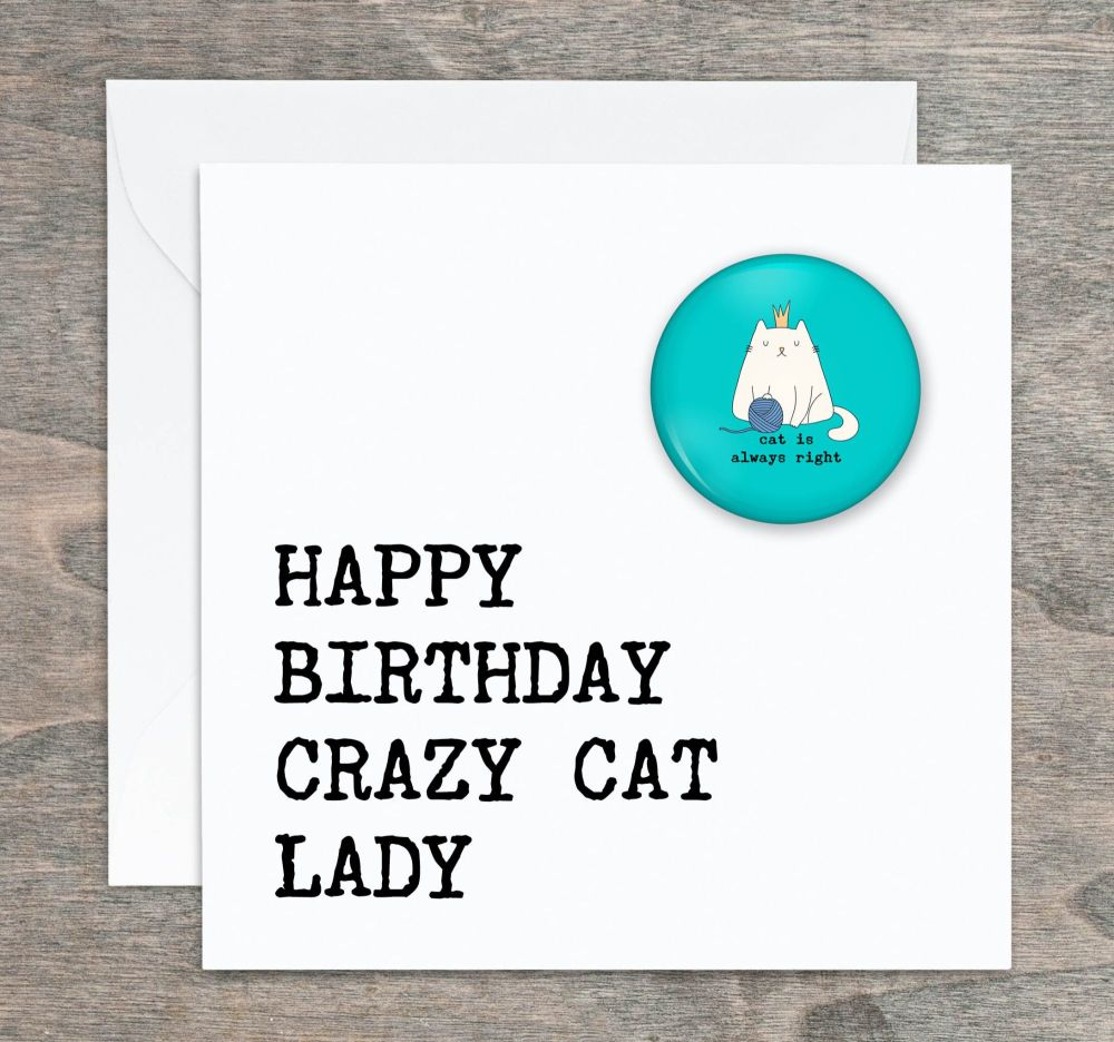 Crazy Cat Lady Birthday Card