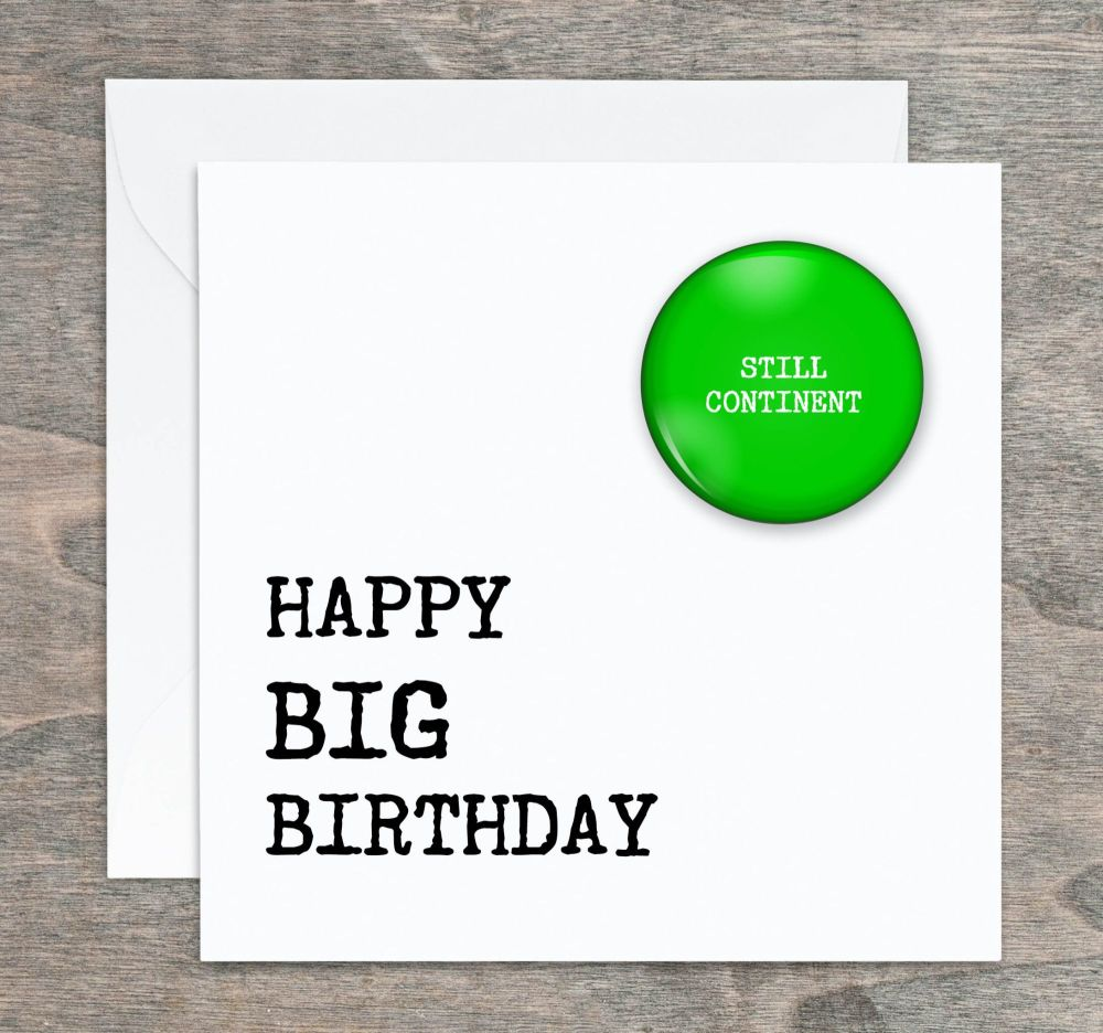 Big Birthday Badge Card