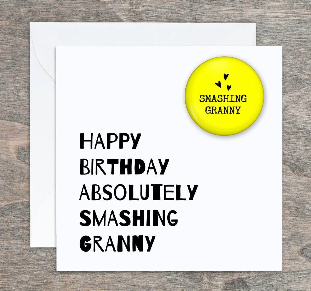 Smashing Granny Birthday Card