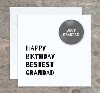 Bestest Grandad  Birthday Card
