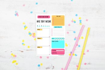 Make Today Awesome - Daily Planner Notepad