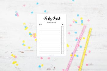 Oh My Christ - Daily Planner Notepad