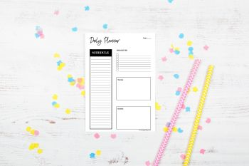 Schedule Daily Planner Notepad