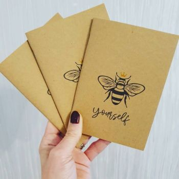 Bee kind notebooks - bumble bee notepads