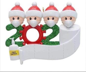 Christmas 2020 Covid Ornament Personalised