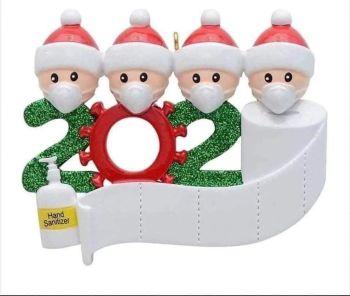 Ornament Non Personalised Christmas 2020 Covid
