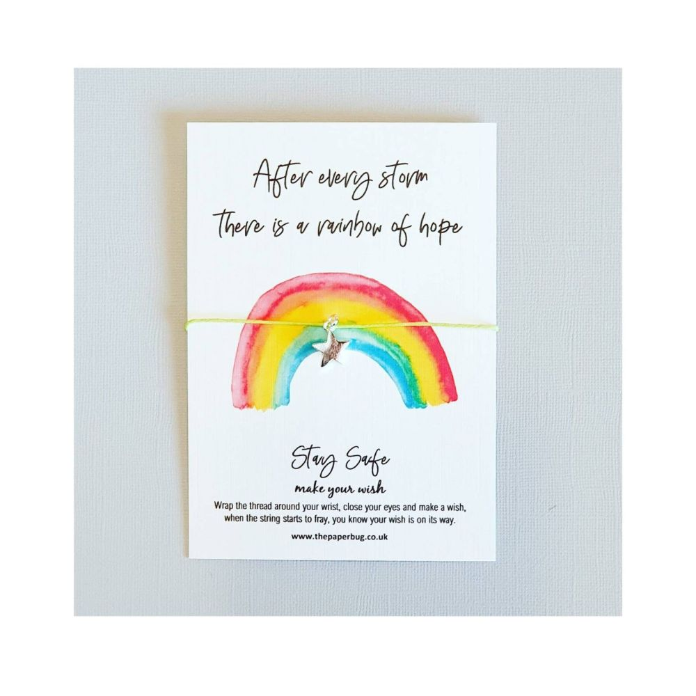 Rainbow of Hope wish bracelet