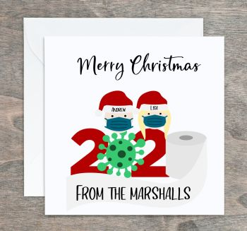 Quarantine Family Personalised Christmas Cards