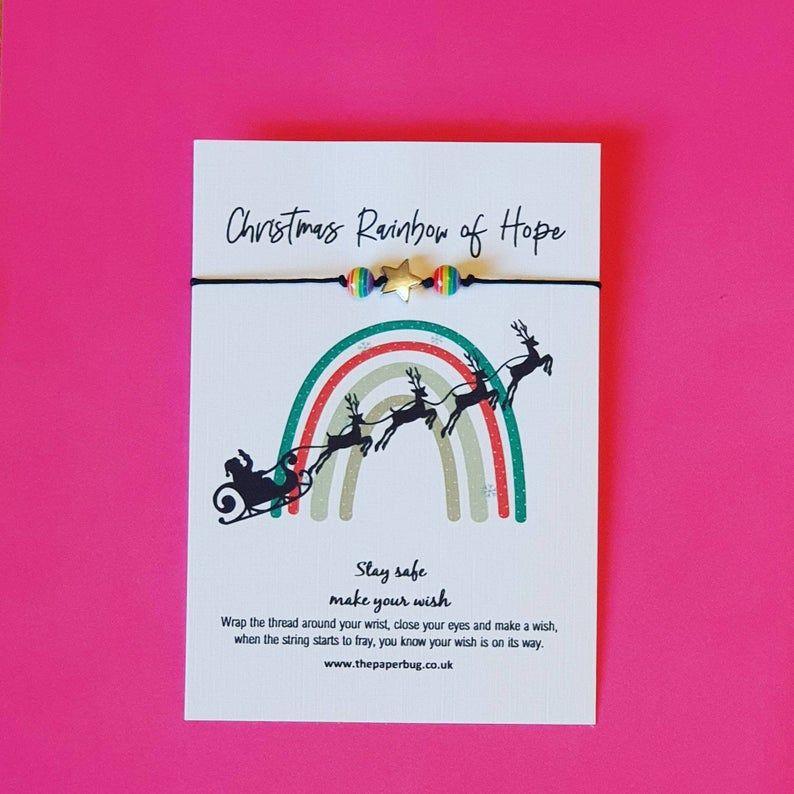 Rainbow Christmas Wish Bracelet