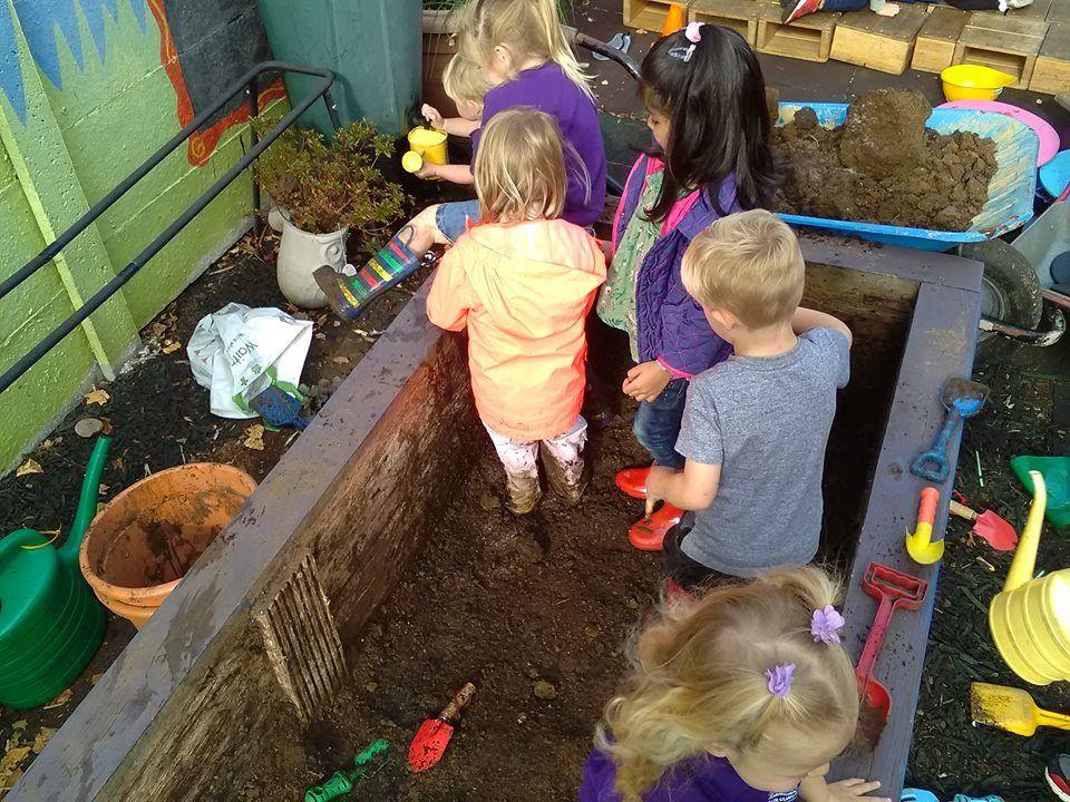 Kids in mud