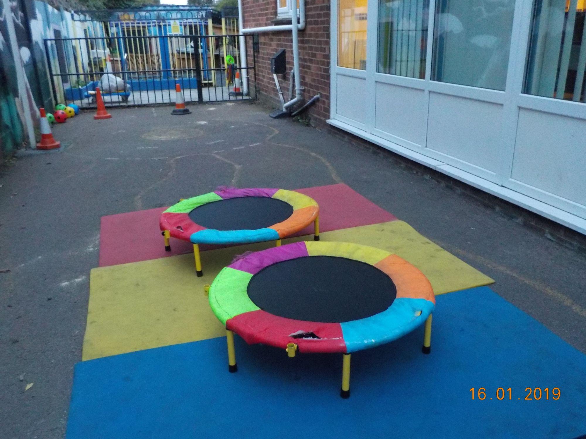 playground trampolines