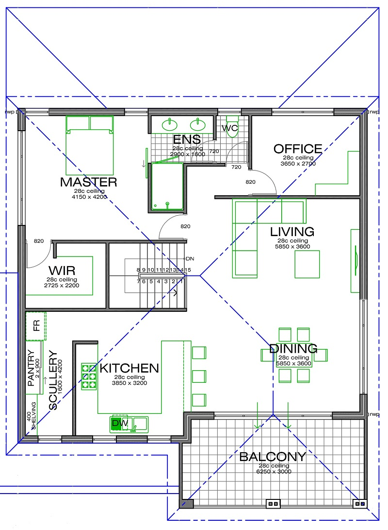 Shoalwater 800mm Floorplan upper