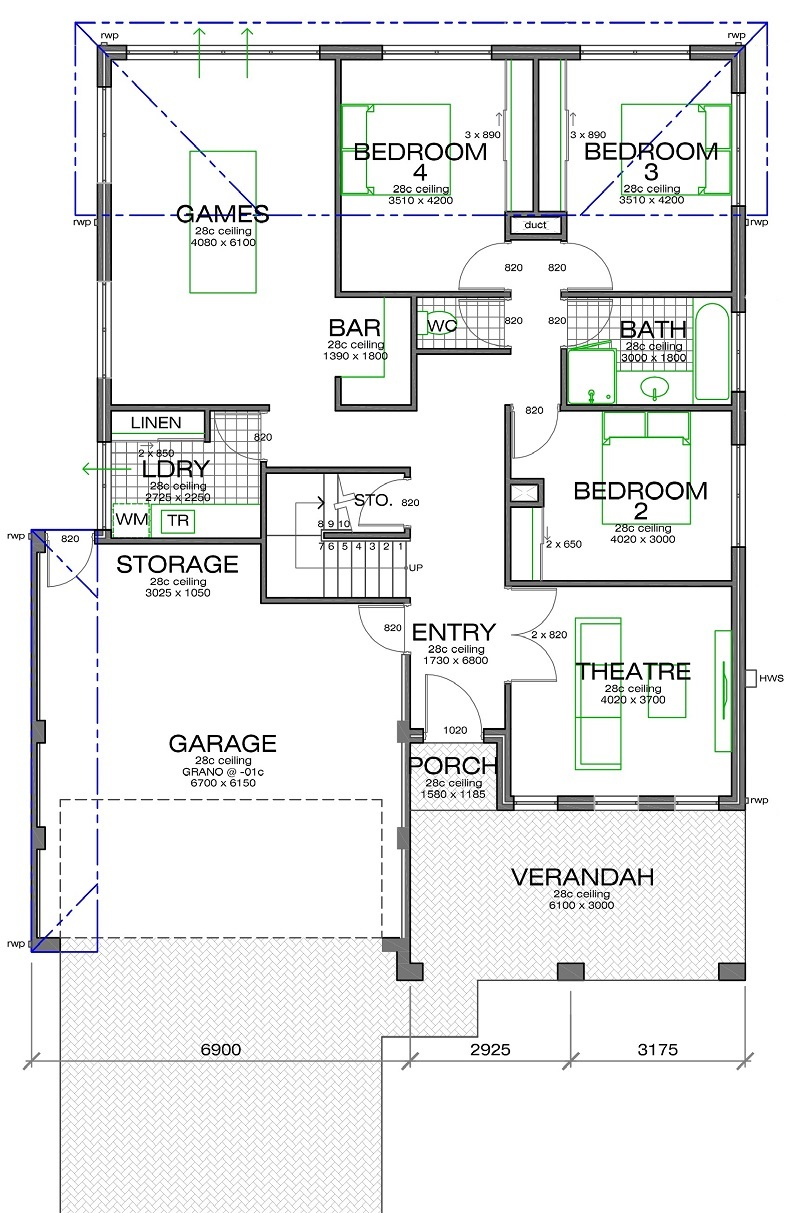 Shoalwater 800mm Floorplan lower