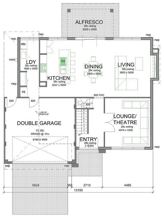 Florida 550mm Lower Floorplan