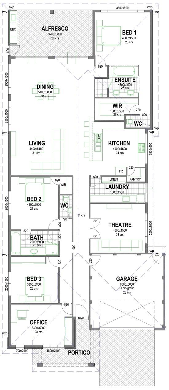 Mcove 550mm floorplan