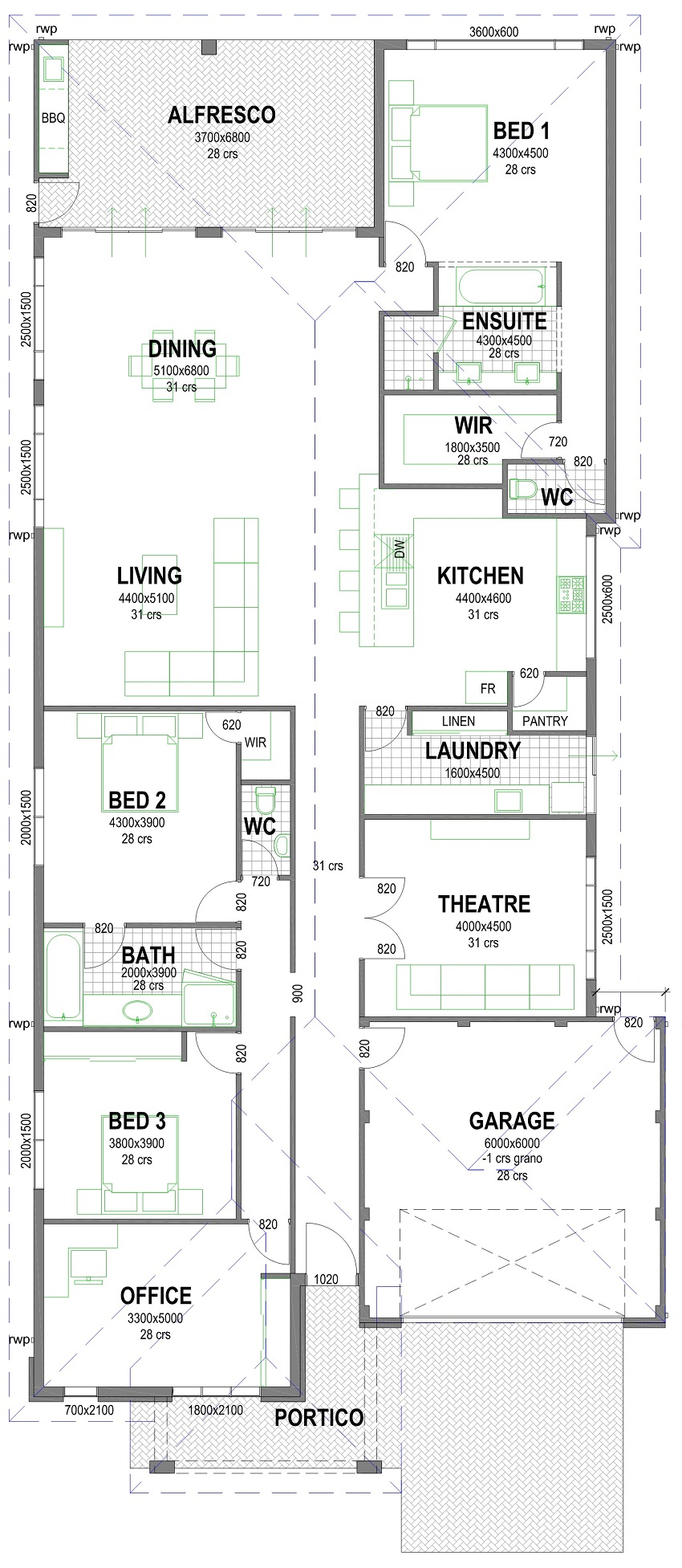 Mcove 850mm floorplan