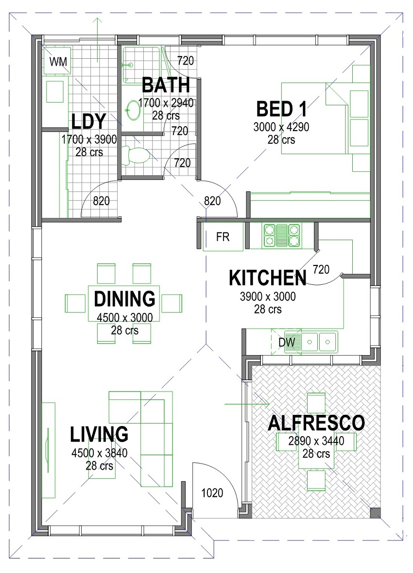 escape 850mm floorplan