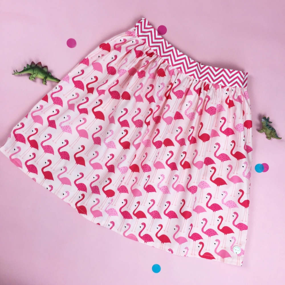 Women's Pink Flamingo Skirt