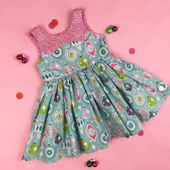 Christmas Blue Bauble Party Dress