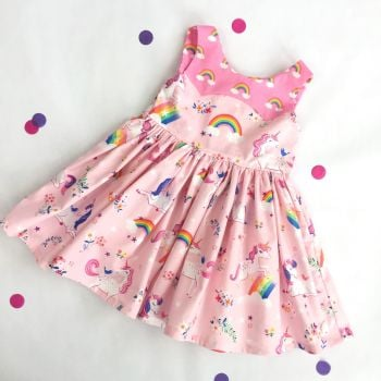 Pink Unicorn Party Dress