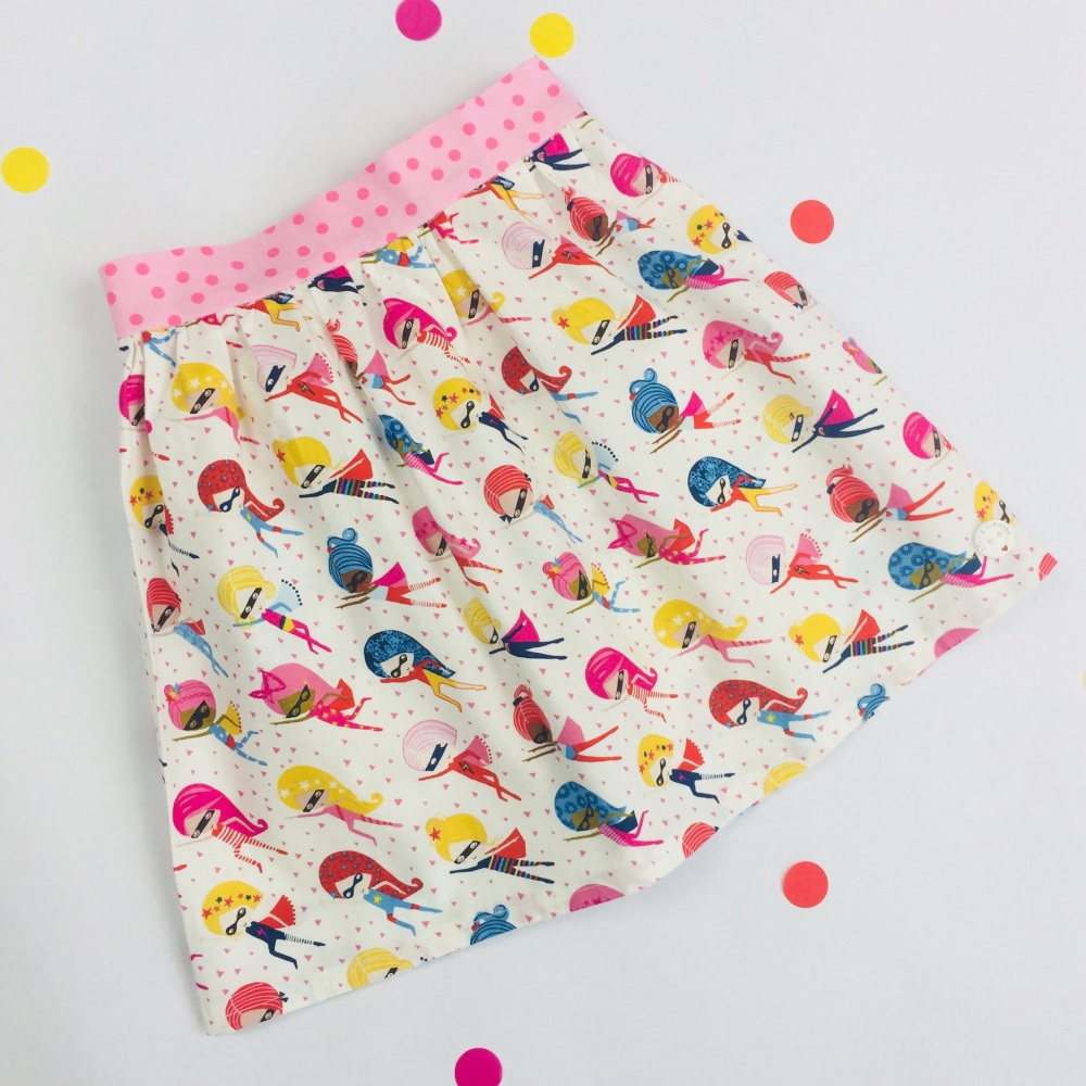 Superhero Girl Skirt