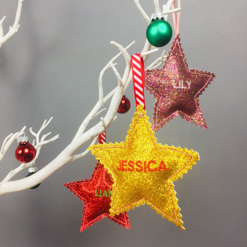 Personalised Star Decorations