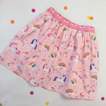 Women's Pink Unicorn Skirt