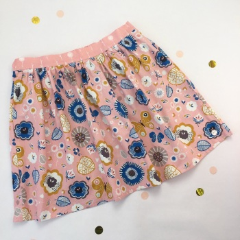 Women's September Blue Flower Skirt