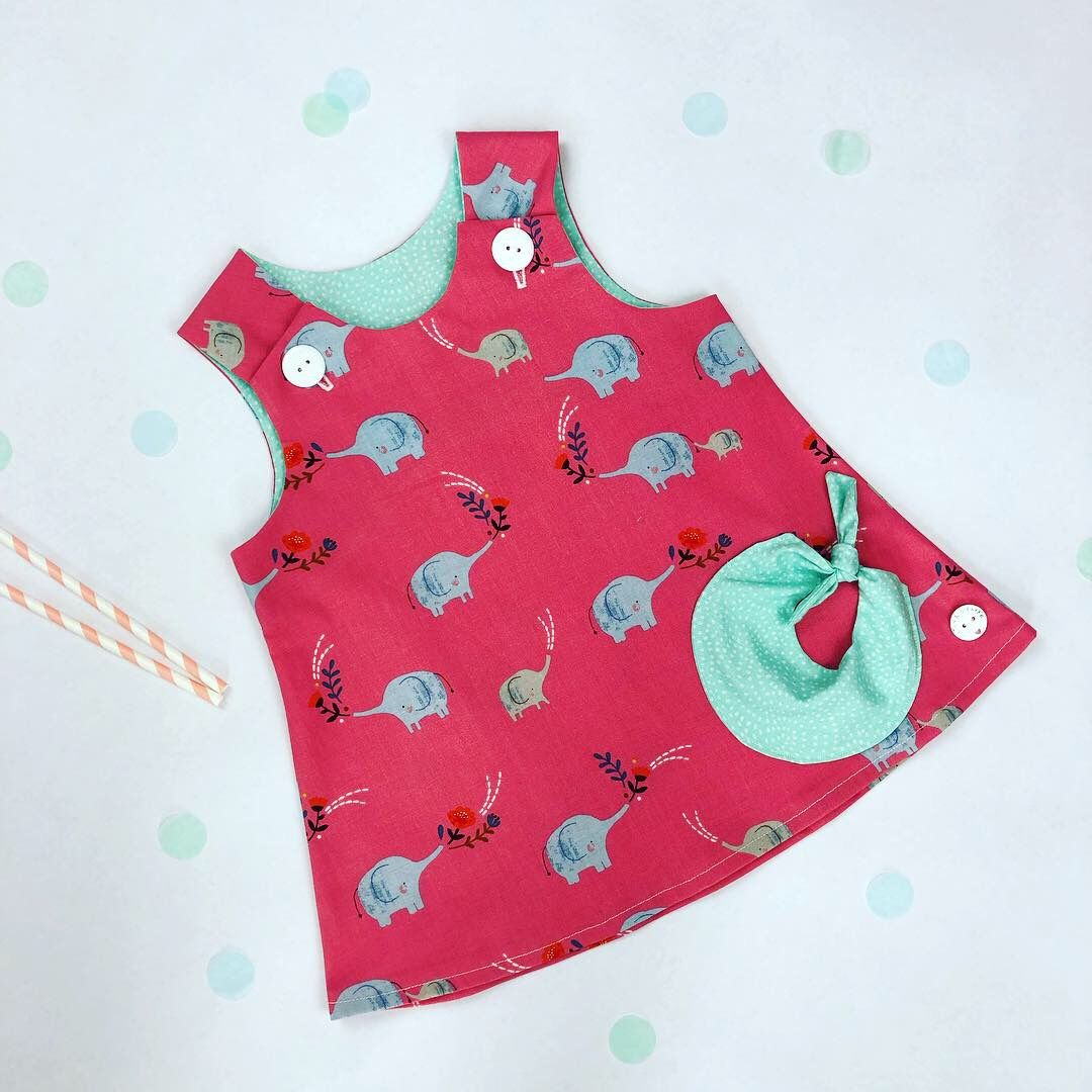 Elephant Bubble Pocket Dress