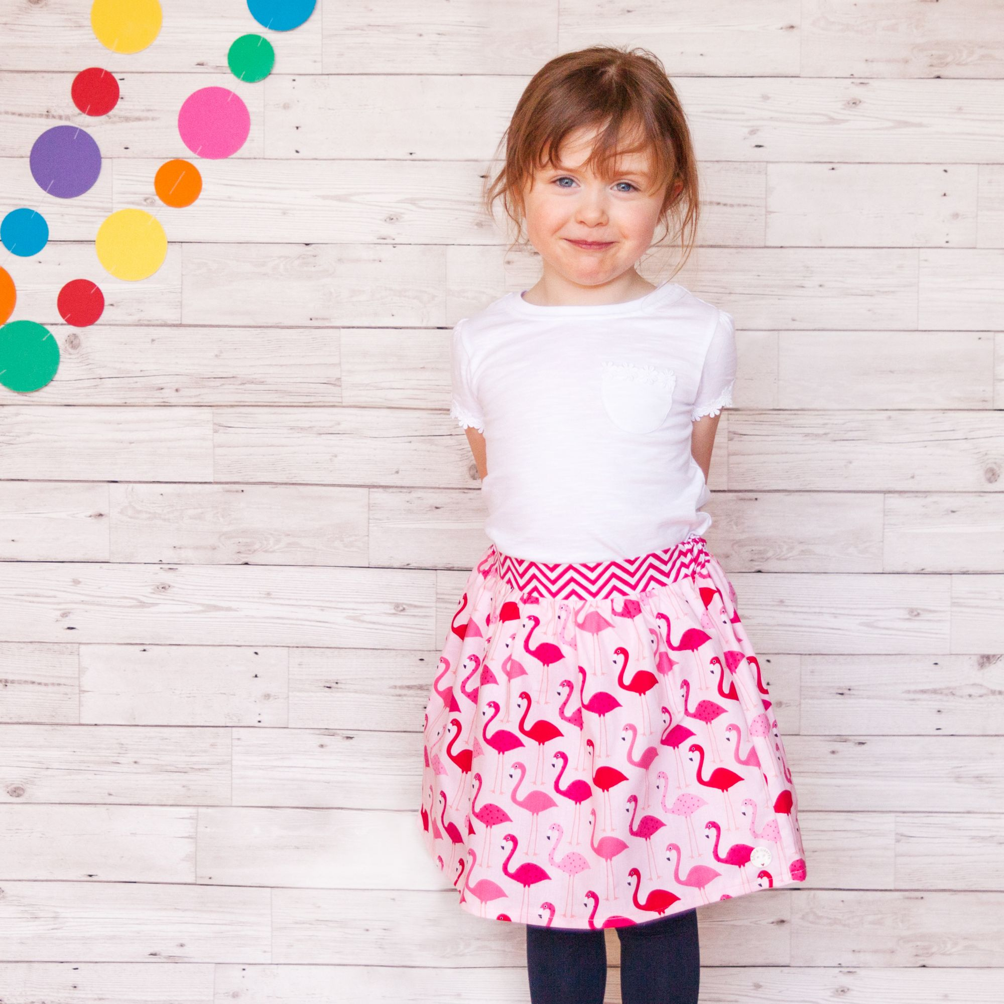 Handmade Girls Flamingo Skirt