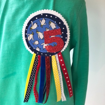 Penguin Birthday Rosette
