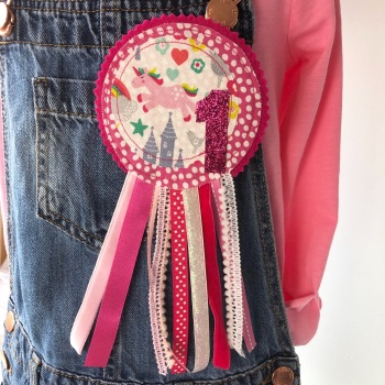 Unicorn Birthday Rosette