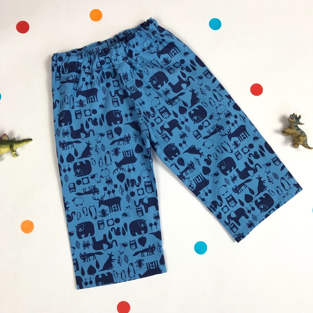 Boys Blue Animal Trousers