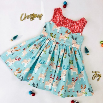 Christmas Deer Party Dress