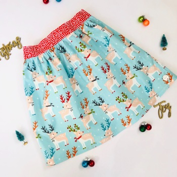 Christmas Deer Skirt