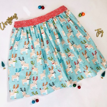 Women's Christmas Deer Skirt