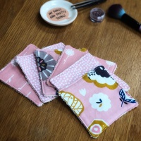 Set of 6 Handmade Pink Washable Make Up Pads