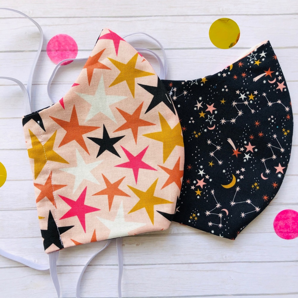 Star and Constellation Set of Two Face Masks