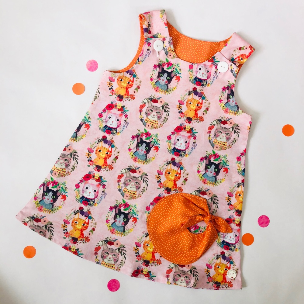 Cat Bubble Pocket Dress