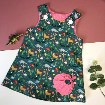 Jungle  Bubble Pocket Dress
