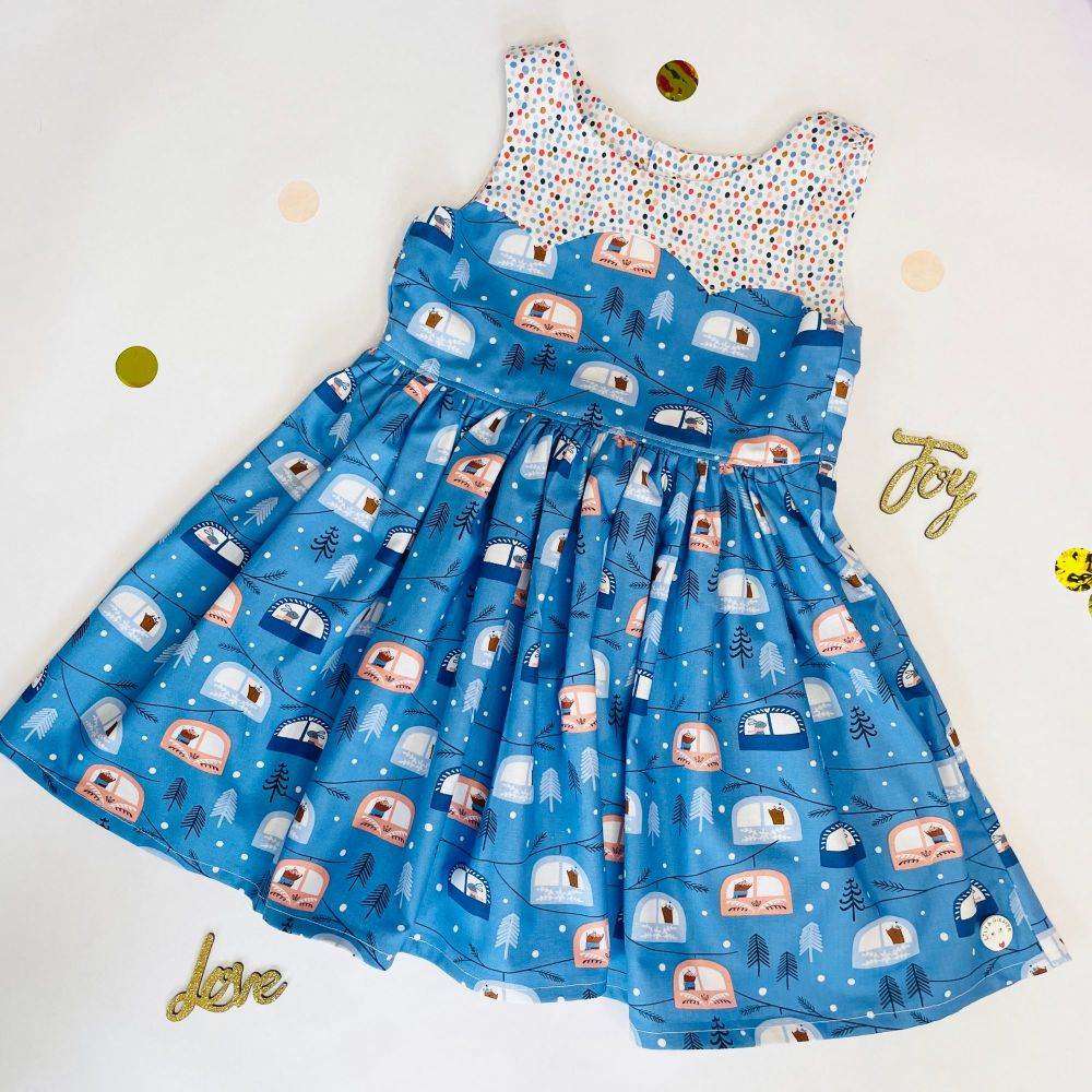 Christmas Cable Car Party Dress