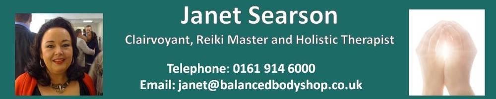 Janet Searson - Clairvoyant, Reiki Master & Holistic Therapist, site logo.