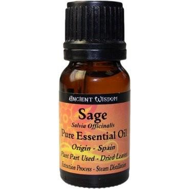10ml Sage Essential Oil - Inc FREE P&P